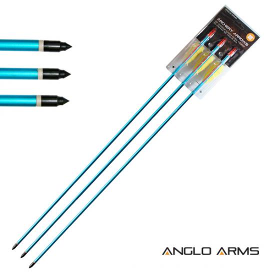 """3x 30"""" Aluminium Bow Arrows"""