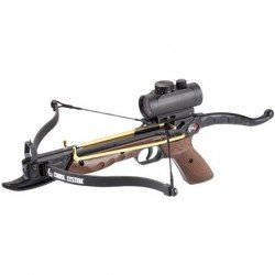 80lb Self Cocking Aluminium Pistol Crossbow with Red Dot Sight