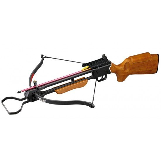 150lb Rifle Crossbow Wooden Pre-Strung