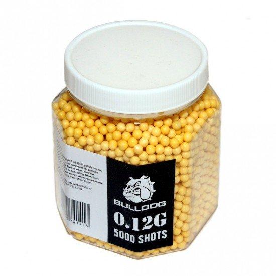 Bulldog 0.12G 5000 Yellow Airsoft BB Pellets