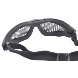 Mesh Glasses with Cotton Strap (Black)