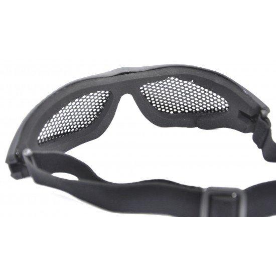 Mesh Glasses with Cotton Strap (Black)
