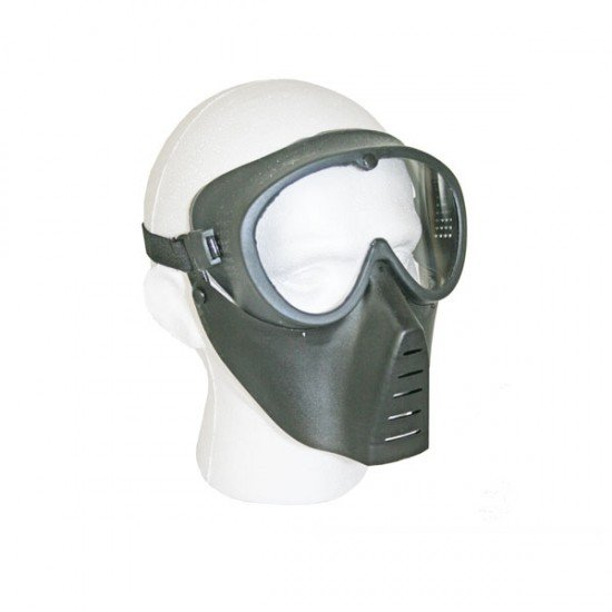 BB Gun Face Mask with Plastic Front