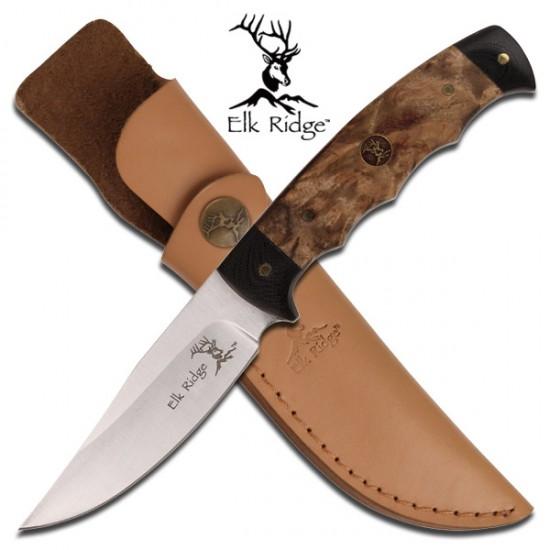 Burl Wood Sheath Knife