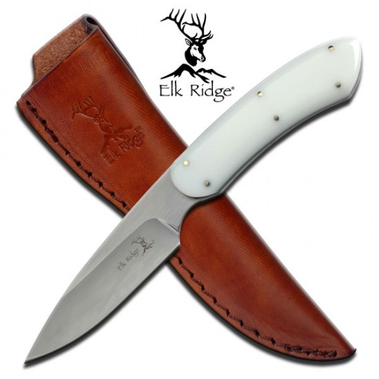 White Handle Sheath Knife