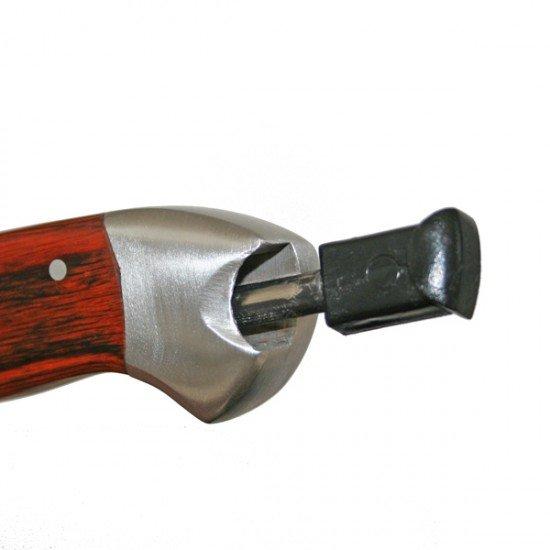 Pakkawood Sheath Knife with Fire Starter