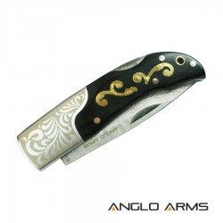 Damascus Steel Lock Knife 374