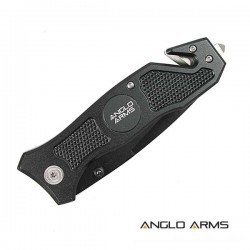Lock Knife with Rope Cutter, Glass Smasher and Belt Clip 2