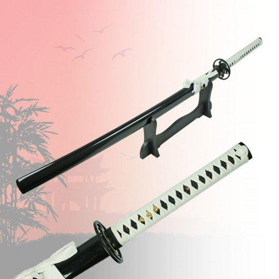 Black & White Katana Sword Hand Forged