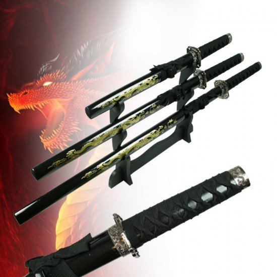 Golden Dragon Sword Set